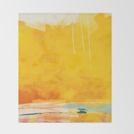 sunny landscape Throw Blanket