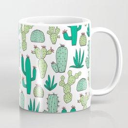 Cactus on White Coffee Mug