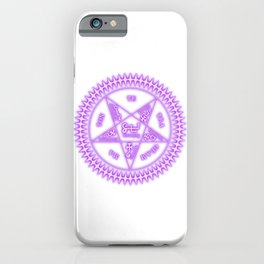 Sebastian Michaelis Sigil Light (white bg) iPhone Case