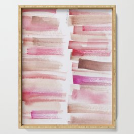3 | 181101 Watercolour Palette Abstract Art | Lines | Stripes | Serving Tray