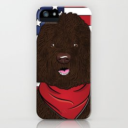 Labradoodle Art Poster by Artist A.Ramos. Designed in Bold Colors. Perfect for Pet Lovers iPhone Case