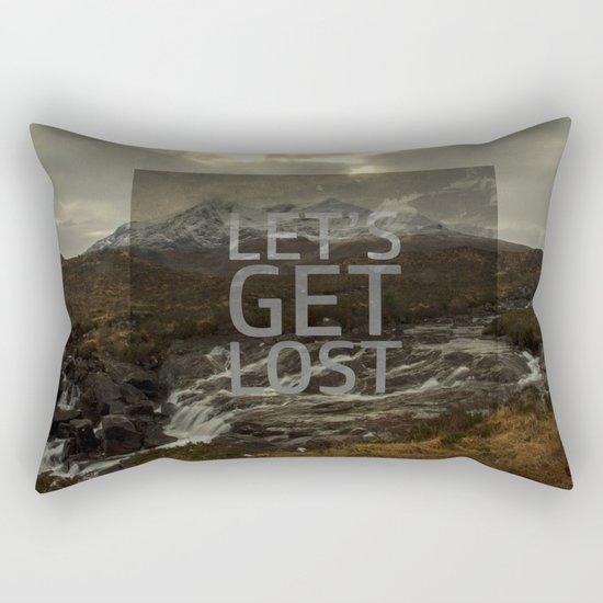 LET'S GET LOST Rectangular Pillow