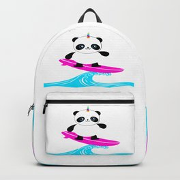 Surfing Pandacorn Backpack