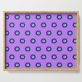 Evil Eye on Purple Serving Tray