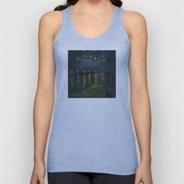 Starry Night Over the Rhone by Vincent van Gogh Unisex Tank Top