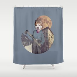 The killer dog Shower Curtain