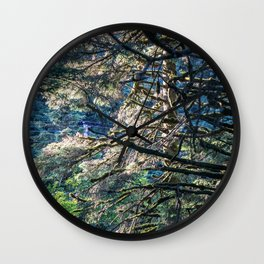 Sunlight Tree Wall Clock