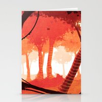 forrest Stationery Cards featuring Dawn forrest by Rafael T. Pimentel