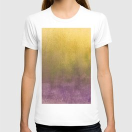 eggplant and gold watercolor T-shirt