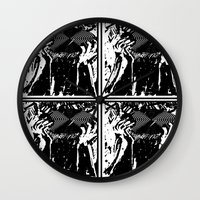 vinyl Wall Clocks featuring Vinyl by Spew Jersey