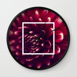 Dahlia Close-Up Wall Clock