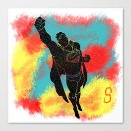 SuperMan Splatter Background Canvas Print