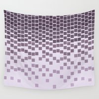 pixel Wall Tapestries featuring Pixel Rain by Picomodi
