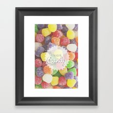 I Want Candy: Gumdrops Framed Art Print