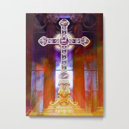 Catholic Cross Metal Print