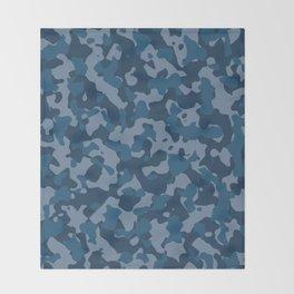 Camouflage Ocean Throw Blanket