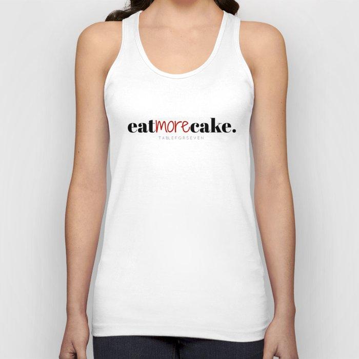 Eat More Cake Unisex Tank Top
