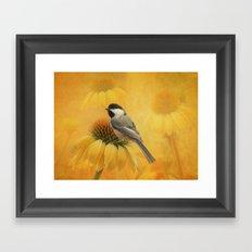 Little Chickadee Framed Art Print