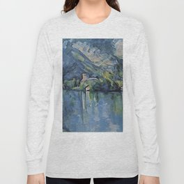 "Paul Cezanne ""The Lac d'Annecy"", 1896 Long Sleeve T-shirt"
