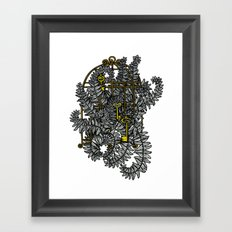 Jailed fern Framed Art Print