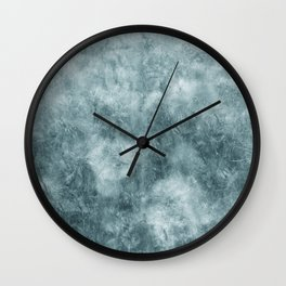 Blue thistle Wall Clock