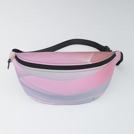 Flow Motion Vibes 1. Pink, Violet and Grey Fanny Pack