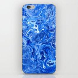 Blue Blues Lava Flow iPhone Skin