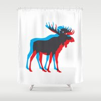 moose Shower Curtains featuring Moose by BMaw