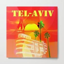 TEL AVIV Metal Print
