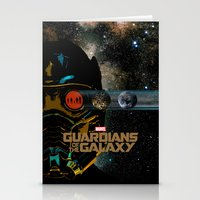 guardians of the galaxy Stationery Cards featuring Guardians of the Galaxy by edgarascensao