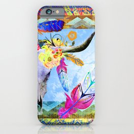 Bohemian Longhorn iPhone Case