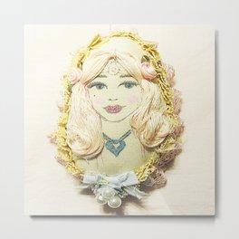 Bella Beauty Metal Print