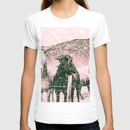 Southwest Horses Black and White T-shirt