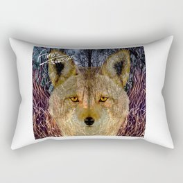 Long Night Coyote Rectangular Pillow