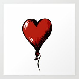 Love Heart Balloon Art Print