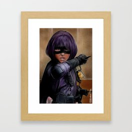 Hit Girl Framed Art Print