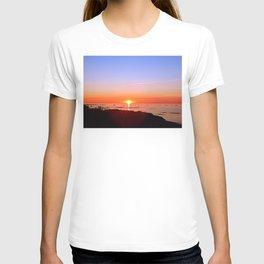 Kayak Silhouette at Sunset T-shirt