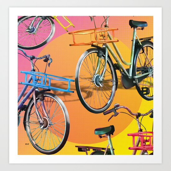 love my Bicycle Art Print
