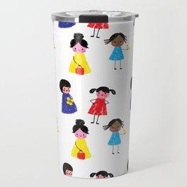 Little girls pattern Travel Mug