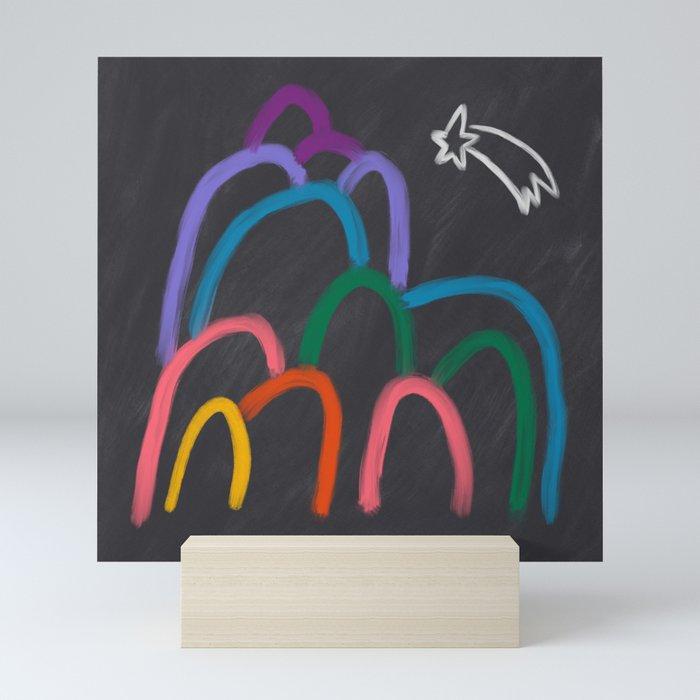 Rainbow Mountain Mini Art Print