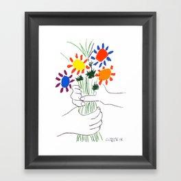 Pablo Picasso Bouquet Of Peace 1958 (Flowers Bouquet With Hands), T Shirt, Artwork Framed Art Print