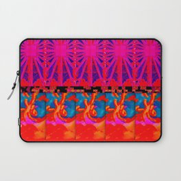 the sun and the waves pattern Laptop Sleeve