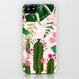 pink desert flowers iPhone Case