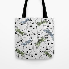Dragonflies in the garden Tote Bag