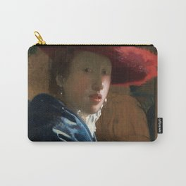 Johannes Vermeer - Girl with the Red Hat Carry-All Pouch