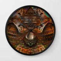 oz Wall Clocks featuring Oz by Tami Cudahy