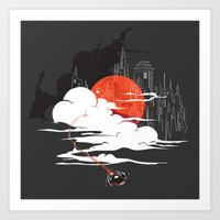 uncharted Art Prints featuring Uncharted Voyage by Marco Angeles