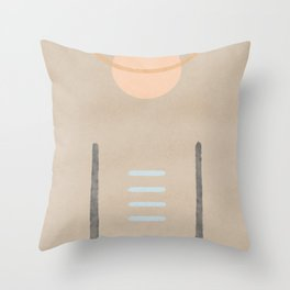 Space in between - Simple minimal earth tones Throw Pillow