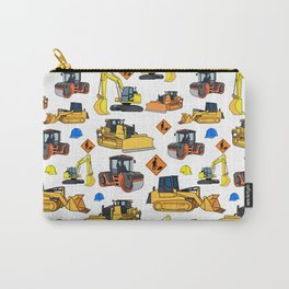 Construction Vehicles Pattern Carry-All Pouch
