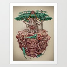 tree land Art Print